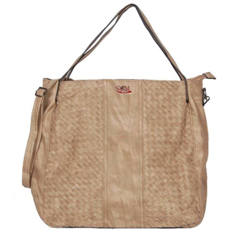 Womens Beige Tote Bag (C507) by SGN Moments