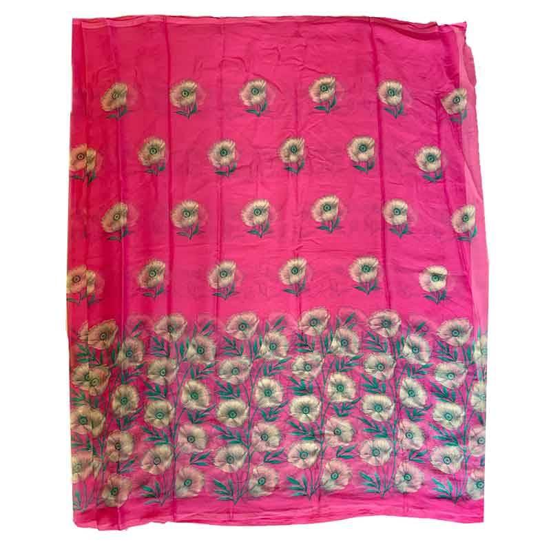 Printed Chiffon Saree 2-4-2