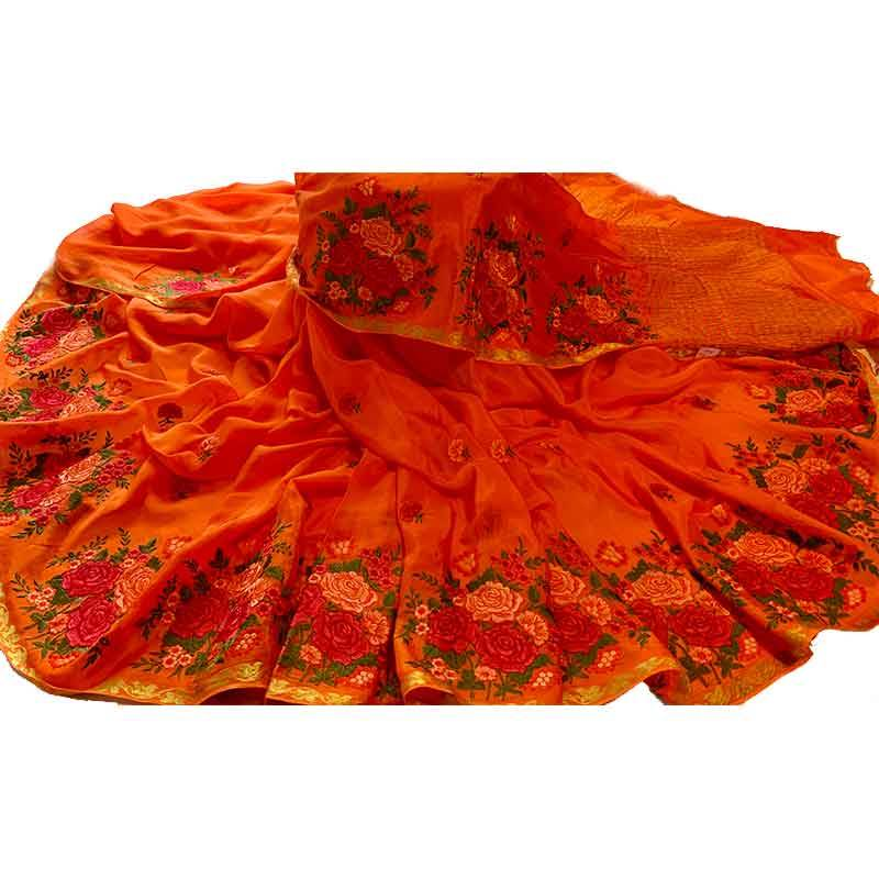 Crepe Silk Saree 2-8-5