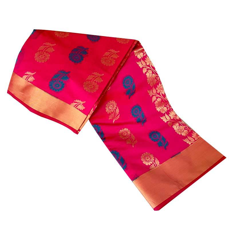Chanderi Cotton Saree 2-14-1