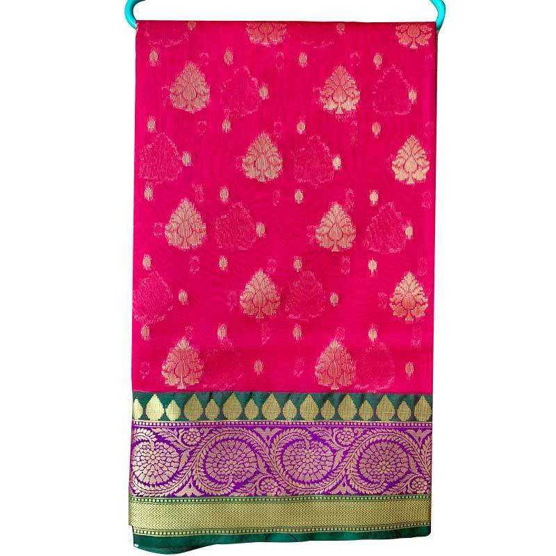 Chanderi Cotton Saree 2-18-1