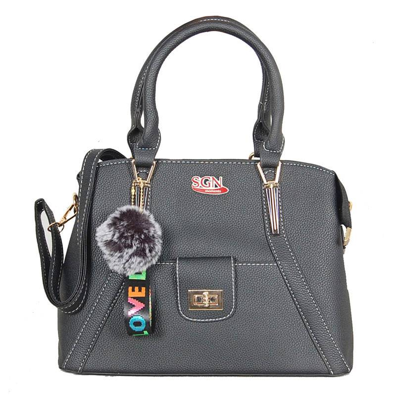 Womens Black Shoulder Tote Bag (C704) by SGN Moments