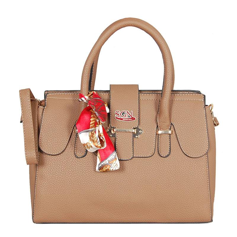 Womens Brown Shoulder Tote Bag (C703) by SGN Moments