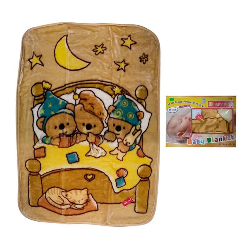 Baby Plus Brown Teddy Bear Printed Blanket