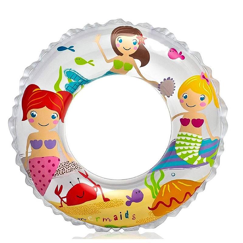 "Intex Mermaid 24"" Inflatable Transparent Ring Swim Tube"