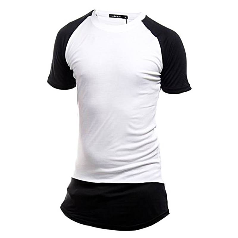 Cotton Long Contracts T-Shirts- White and Black