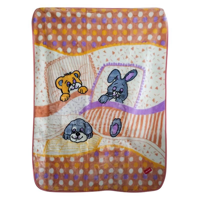 Baby Plus Orange Bunny Printed Blanket