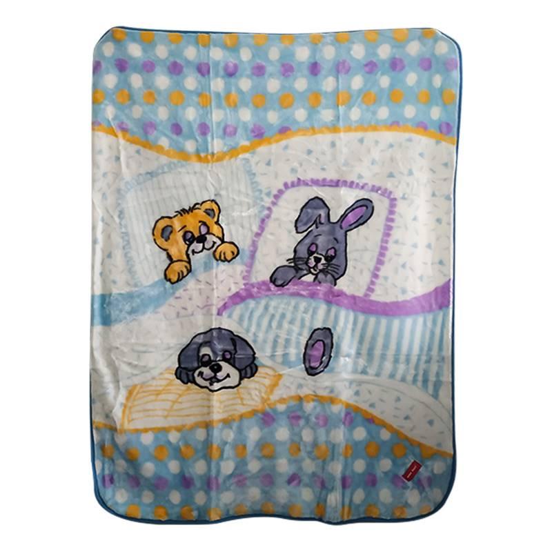Baby Plus Blue Bunny Printed Blanket