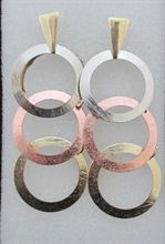 3 Layers Round Shaped  Earring (FERG033)