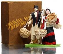 Jyapu Couple (Traditional Corn Husk Dolls)