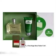 Lacoste Essential Gift Set for Men (Free Hugo Boss Tester 5ml)