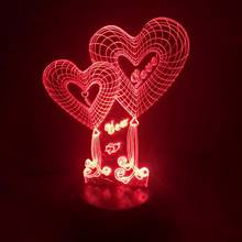 Twin Hearts 3D Light