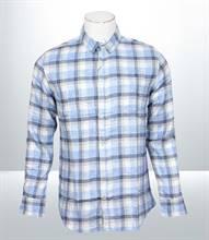 Kilometer Casual Full Shirt (KMQL004) - Sky Blue
