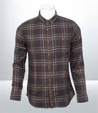 Kilometer Casual Full Shirt (KMQL005) - Brown