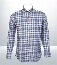 Kilometer Casual Full Shirt (KMQL011) - Sky Blue