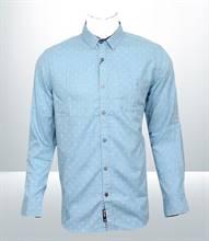 Kilometer Casual Full Shirt (KMQL028) - Sky Blue