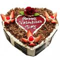 Happy Valentine's Day Black Forest Cake (1 Kg) from Chefs Bakery