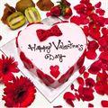 Happy Valentines Day Red Velvet Cake (1 Kg) from Radisson